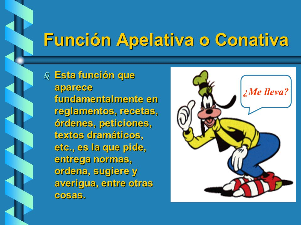Función Apelativa o Conativa
