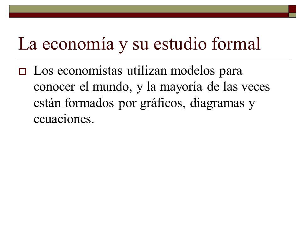 La economía y su estudio formal