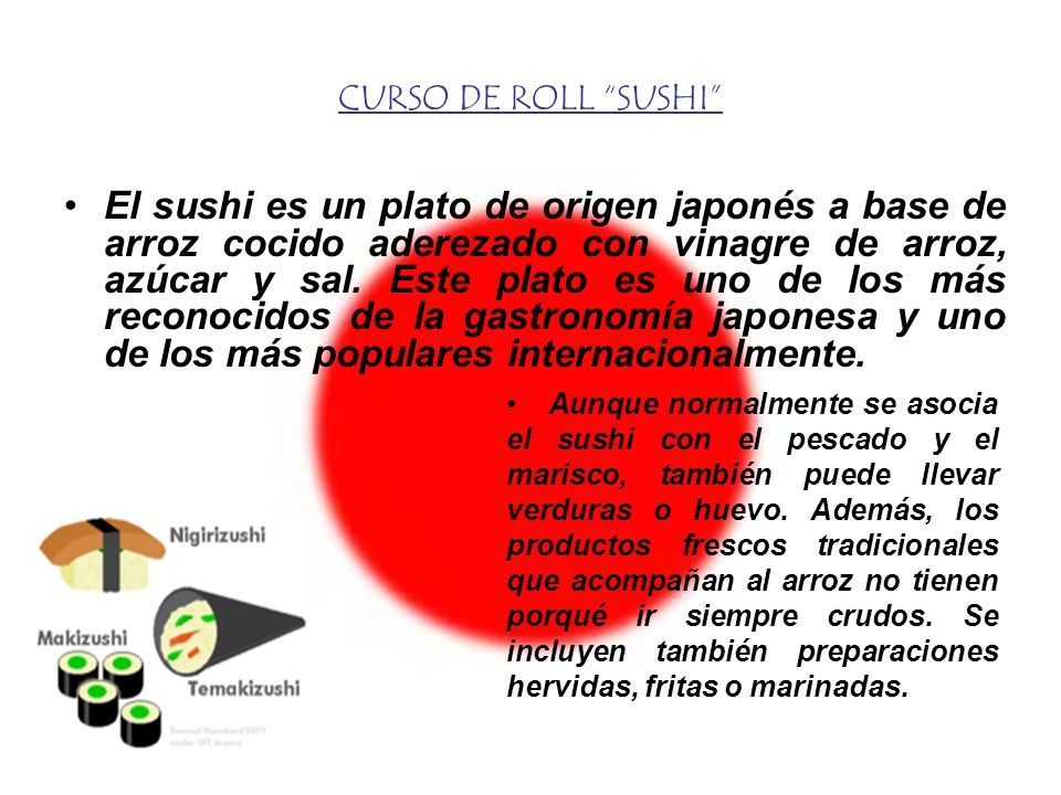 CURSO DE ROLL SUSHI