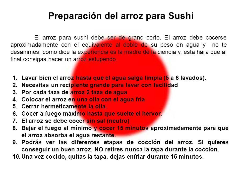 Preparación del arroz para Sushi