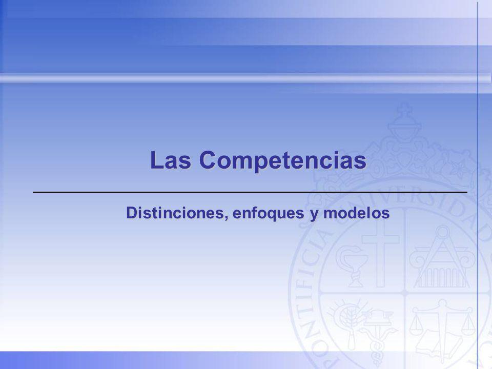 Distinciones, enfoques y modelos