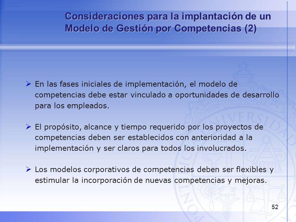 Consideraciones para la implantación de un Modelo de Gestión por Competencias (2)