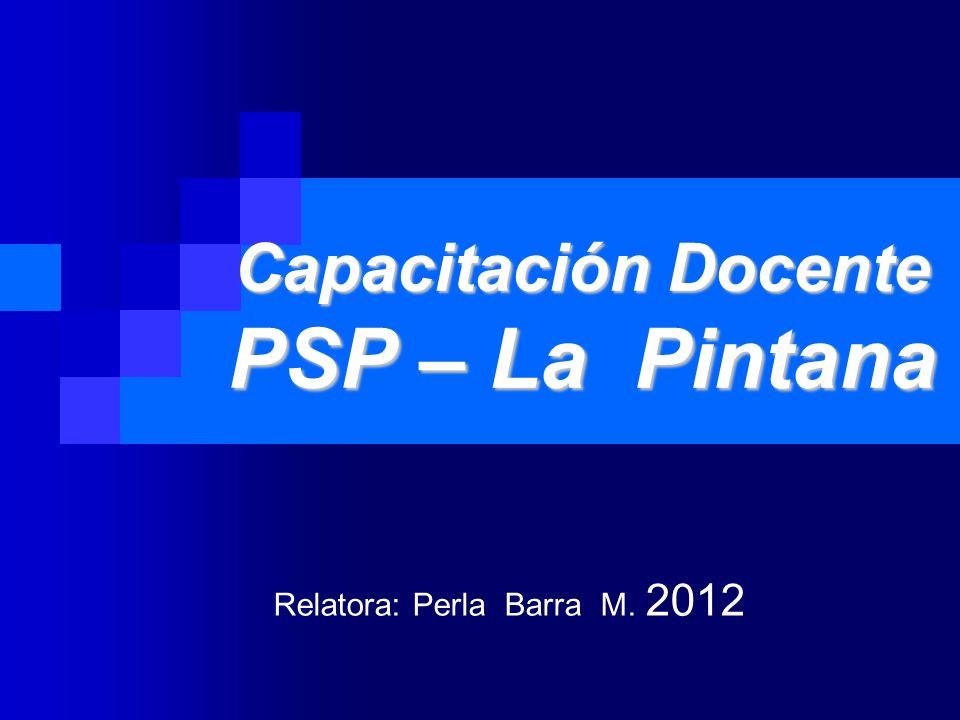 Capacitación Docente PSP – La Pintana