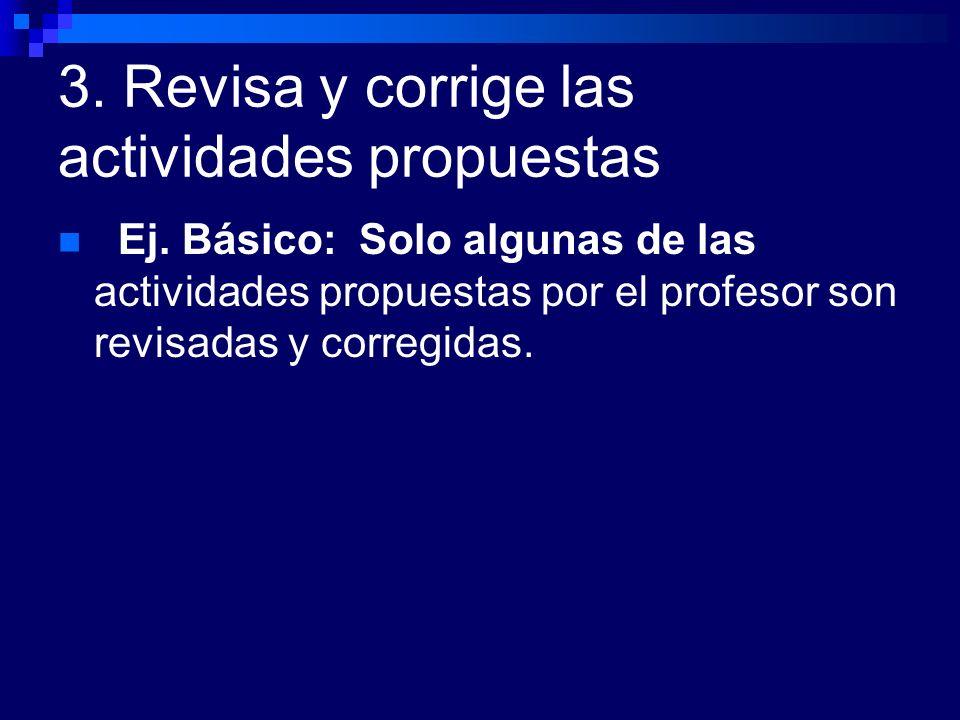 3. Revisa y corrige las actividades propuestas