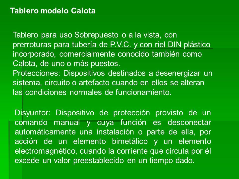 Tablero modelo Calota