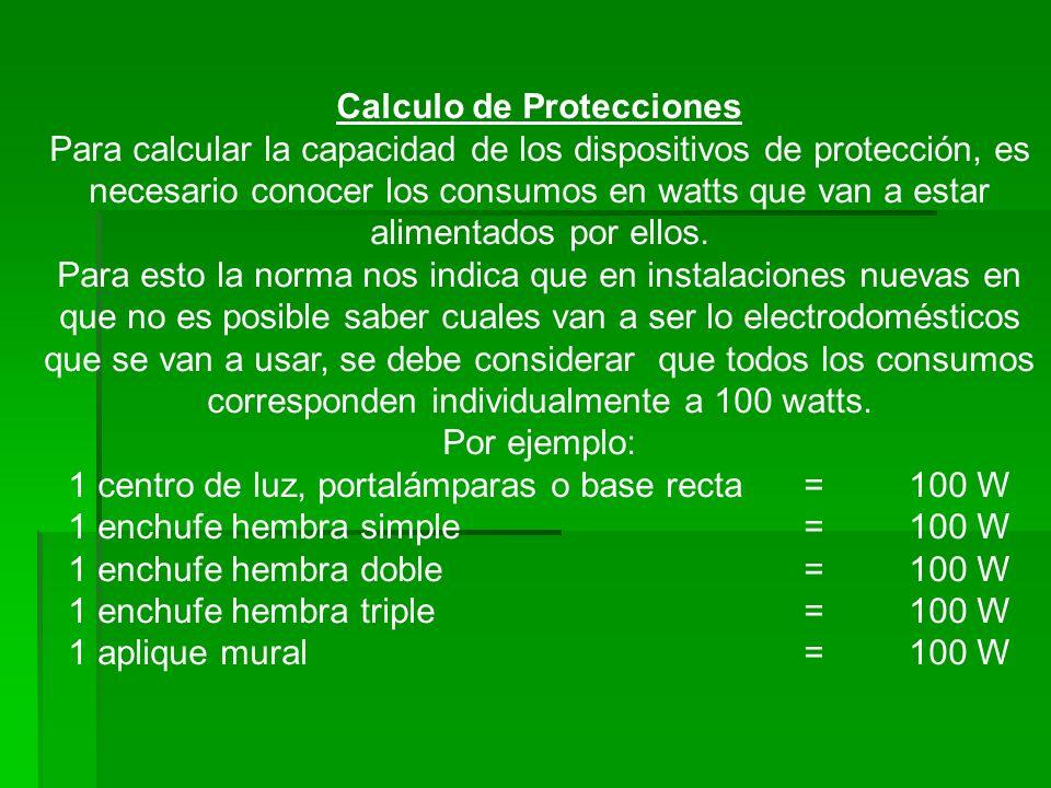 Calculo de Protecciones