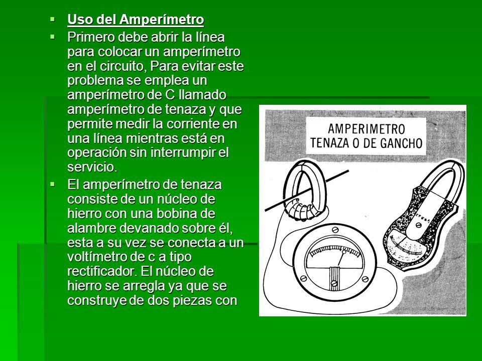 Uso del Amperímetro