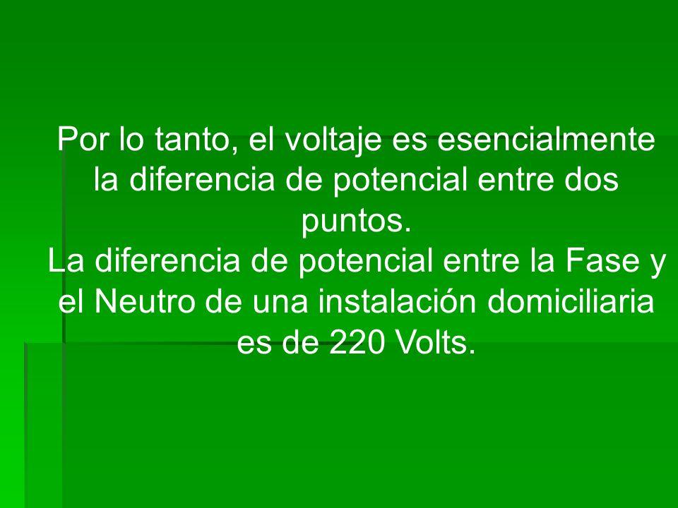 Por lo tanto, el voltaje es esencialmente la diferencia de potencial entre dos puntos.