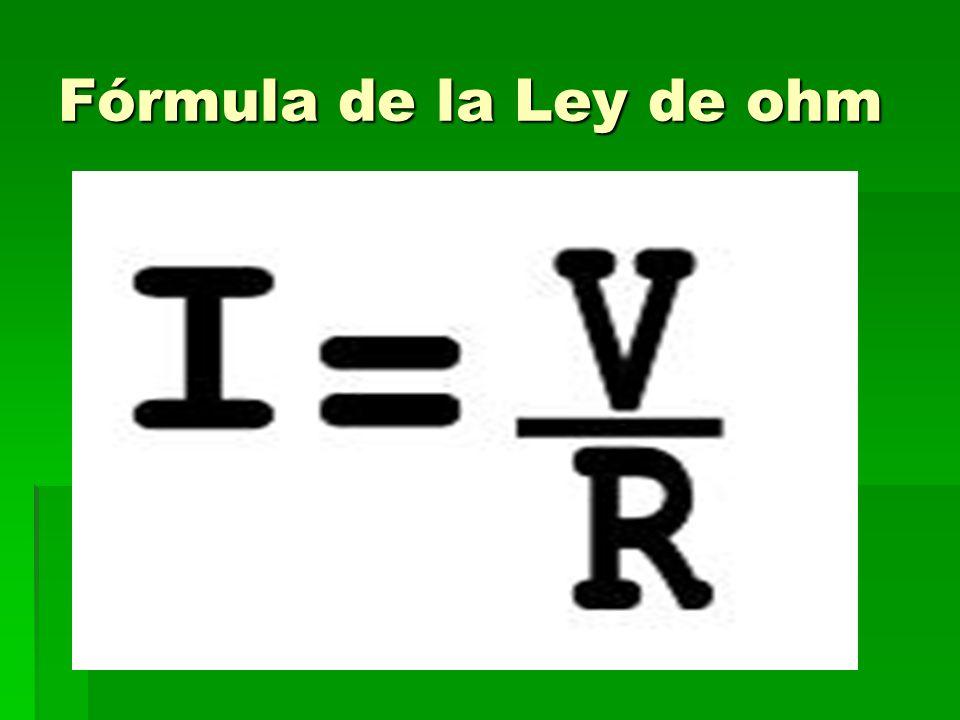 Fórmula de la Ley de ohm
