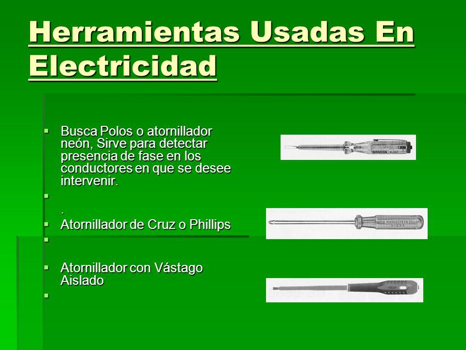 Herramientas Usadas En Electricidad