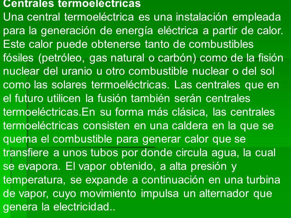 Centrales termoeléctricas