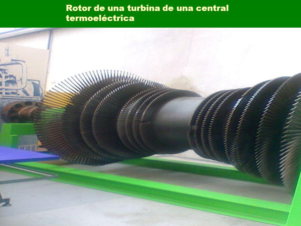 Rotor de una turbina de una central termoeléctrica