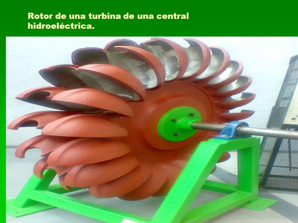 Rotor de una turbina de una central hidroeléctrica.