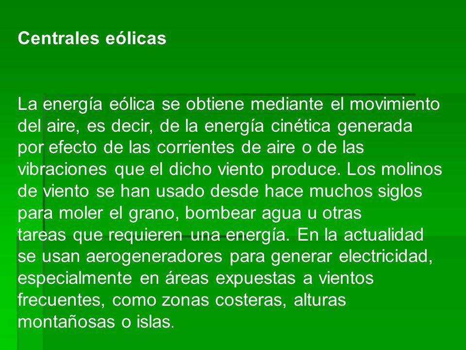 Centrales eólicas