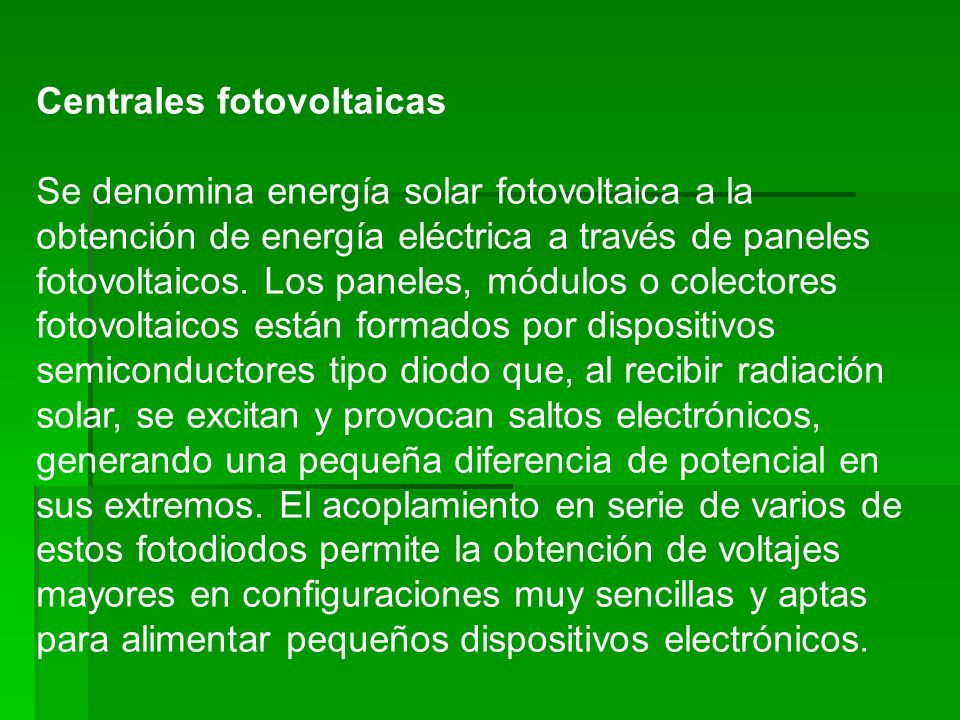 Centrales fotovoltaicas