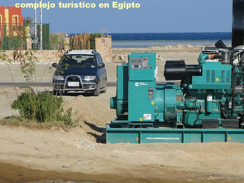 Grupo electrógeno de 500 kVA instalado en un complejo turístico en Egipto