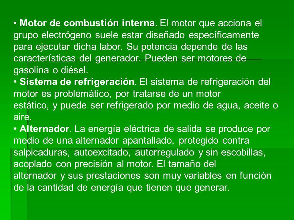 • Motor de combustión interna