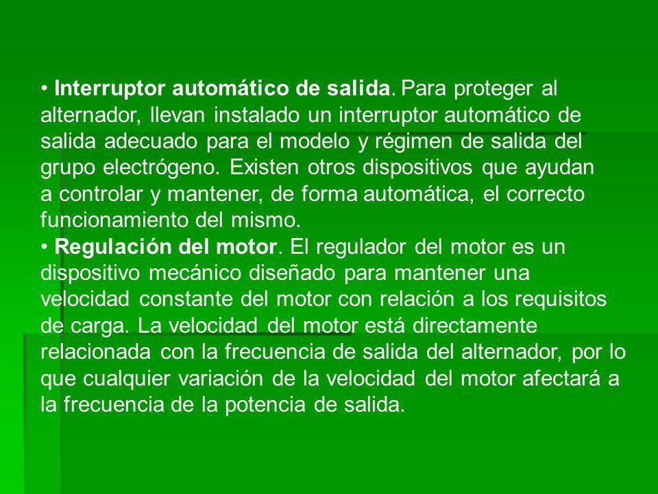 • Interruptor automático de salida
