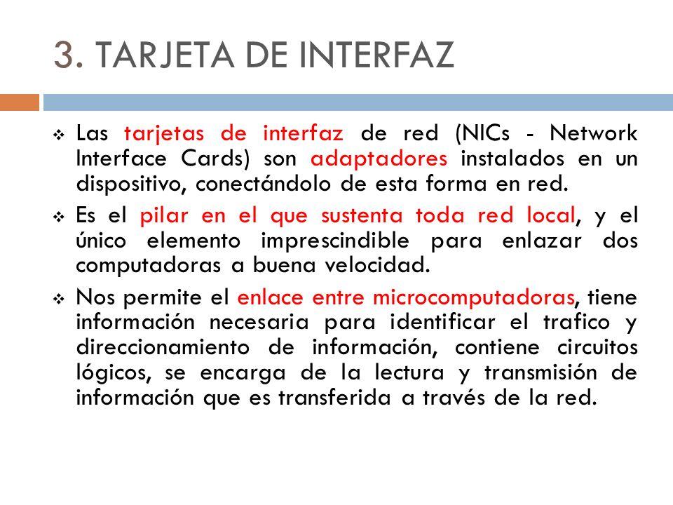 3. TARJETA DE INTERFAZ