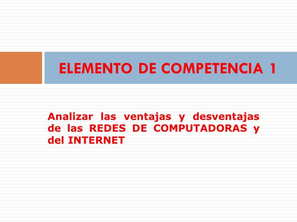 ELEMENTO DE COMPETENCIA 1