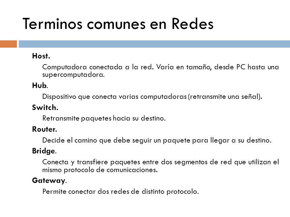 Terminos comunes en Redes