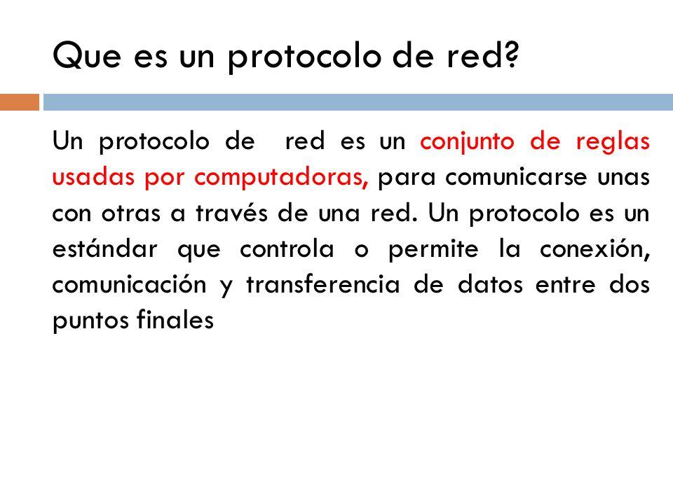 Que es un protocolo de red
