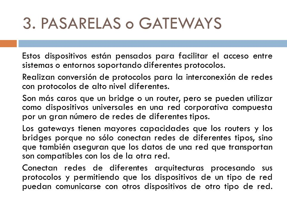 3. PASARELAS o GATEWAYS