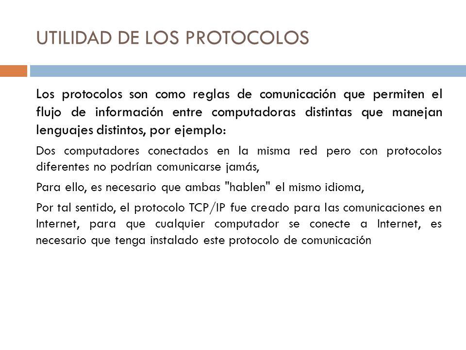 UTILIDAD DE LOS PROTOCOLOS
