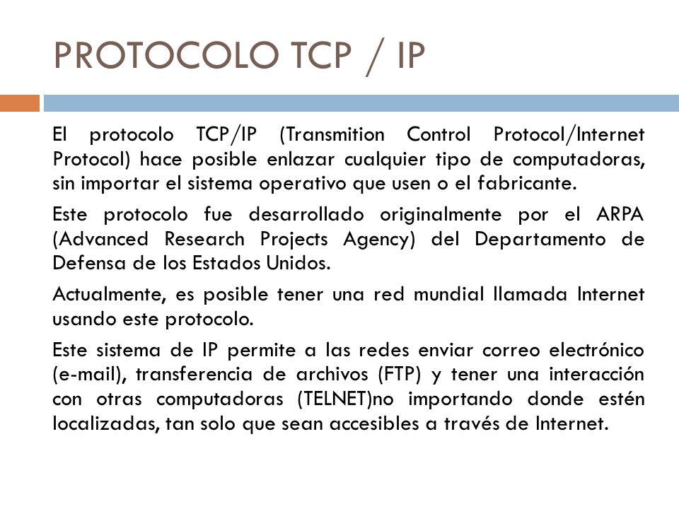 PROTOCOLO TCP / IP
