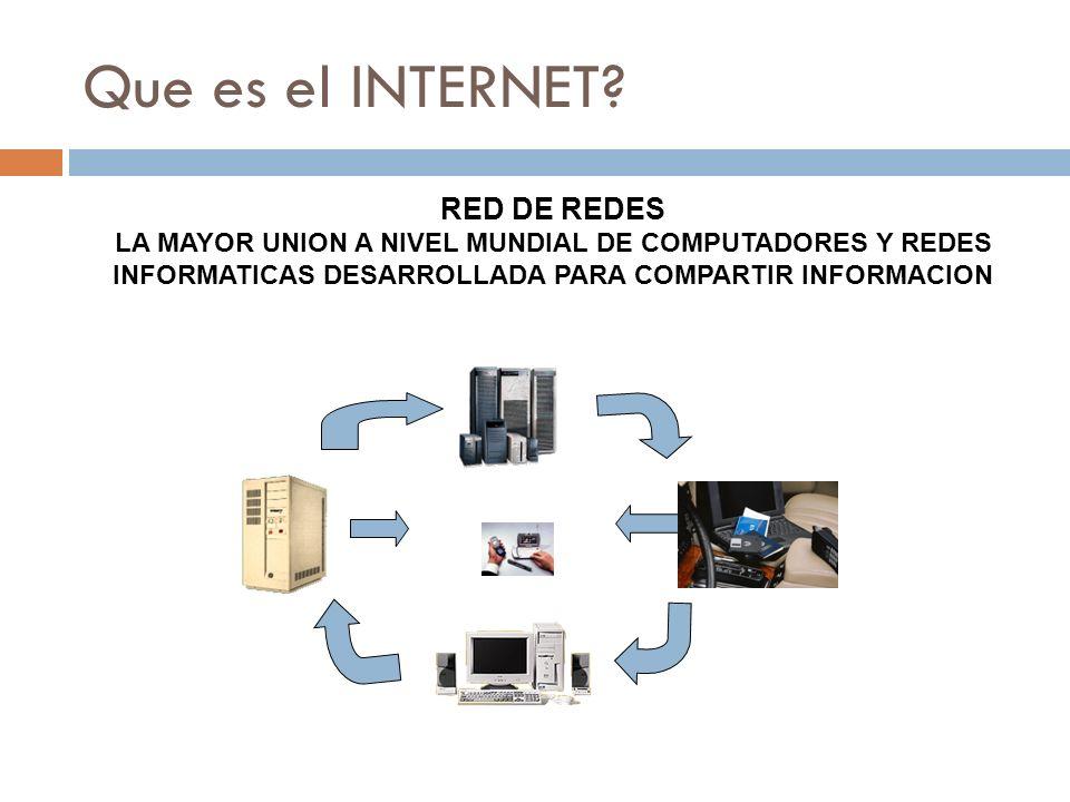 Que es el INTERNET RED DE REDES