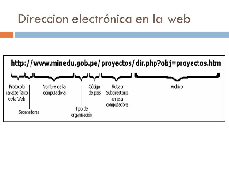 Direccion electrónica en la web