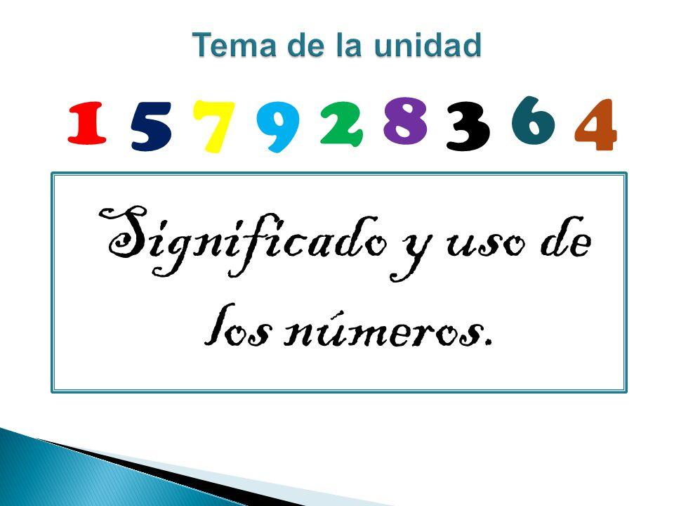 Significado y uso de los números.