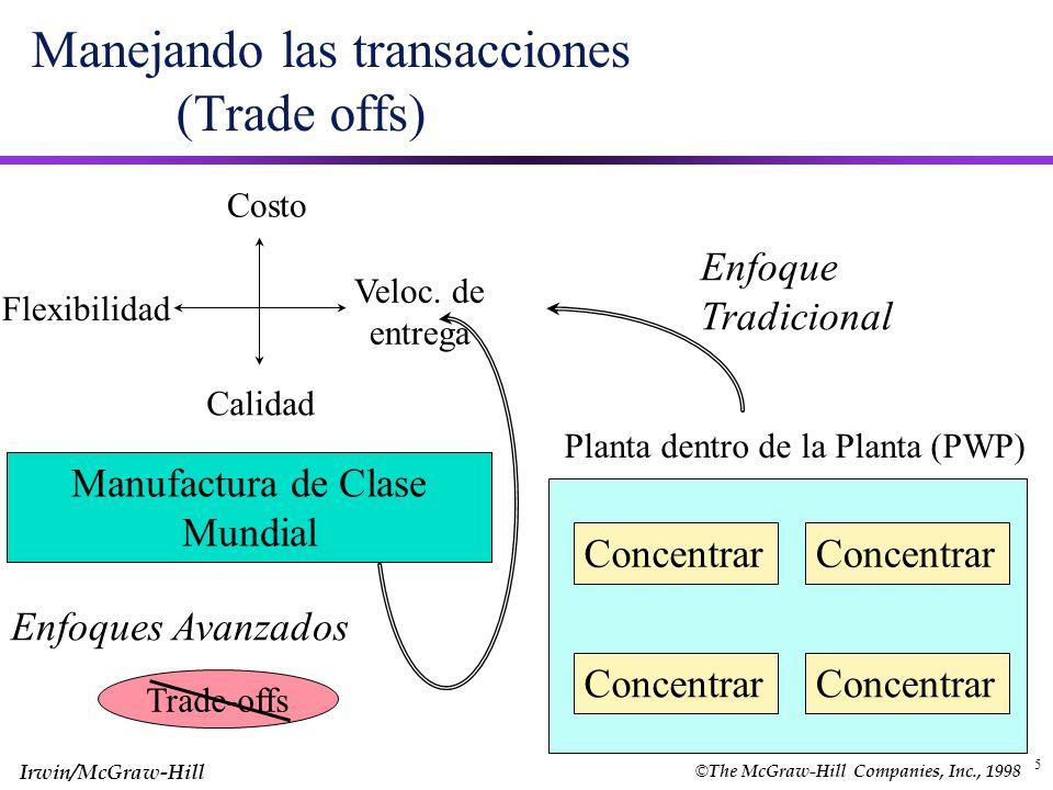 Manejando las transacciones (Trade offs)