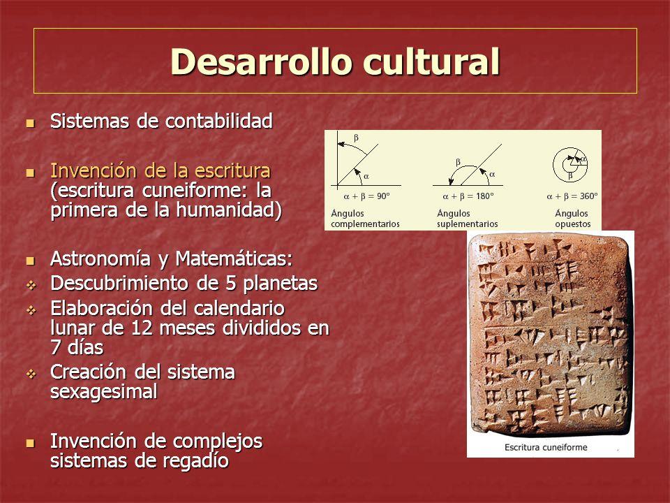 Desarrollo cultural Sistemas de contabilidad