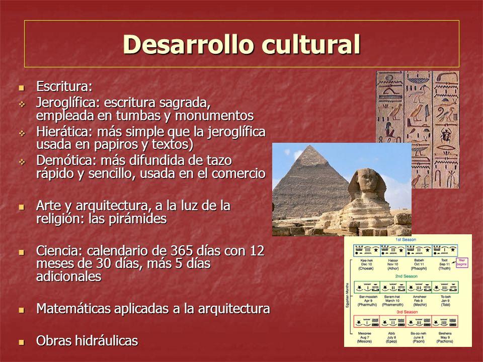 Desarrollo cultural Escritura: