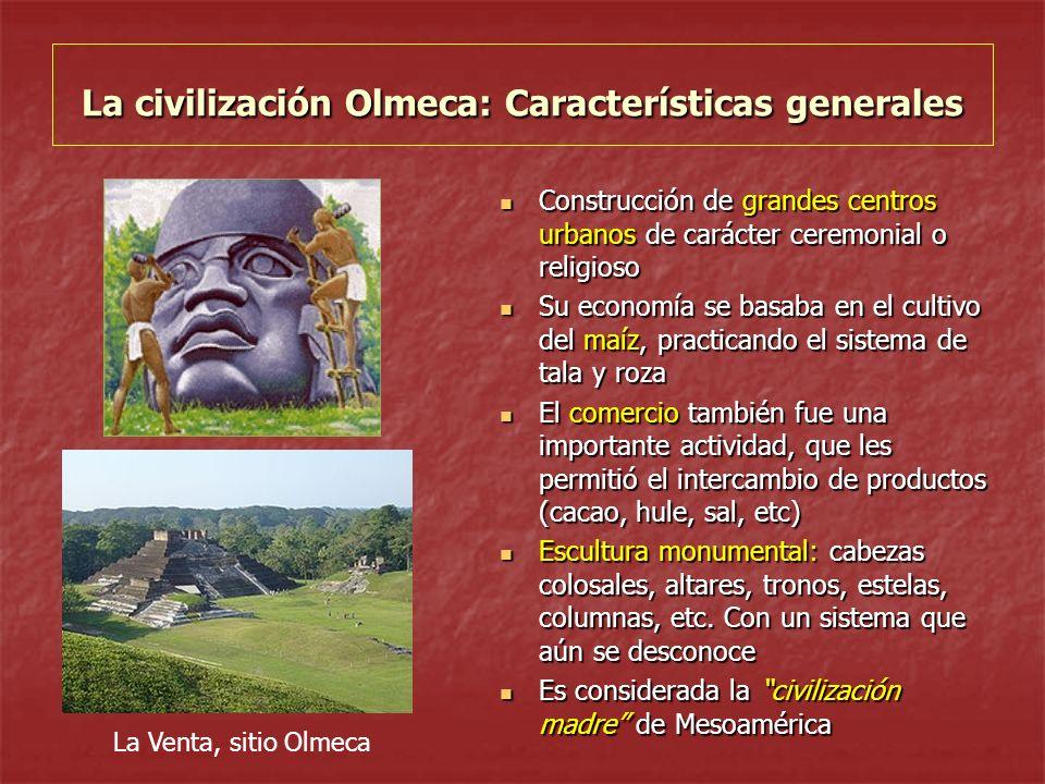 La civilización Olmeca: Características generales