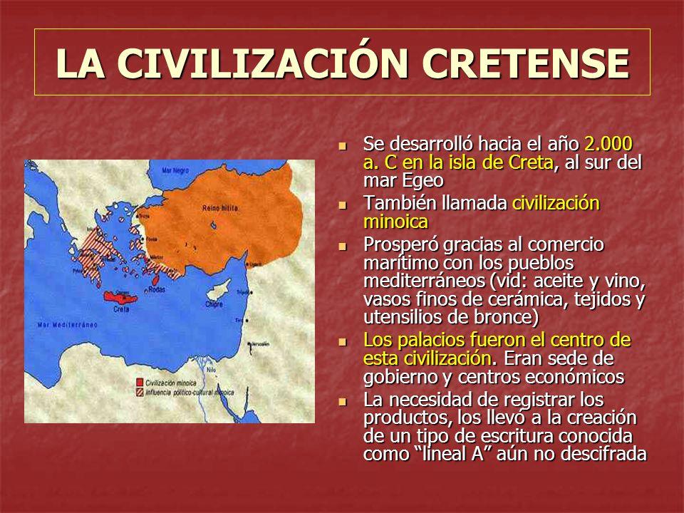 LA CIVILIZACIÓN CRETENSE