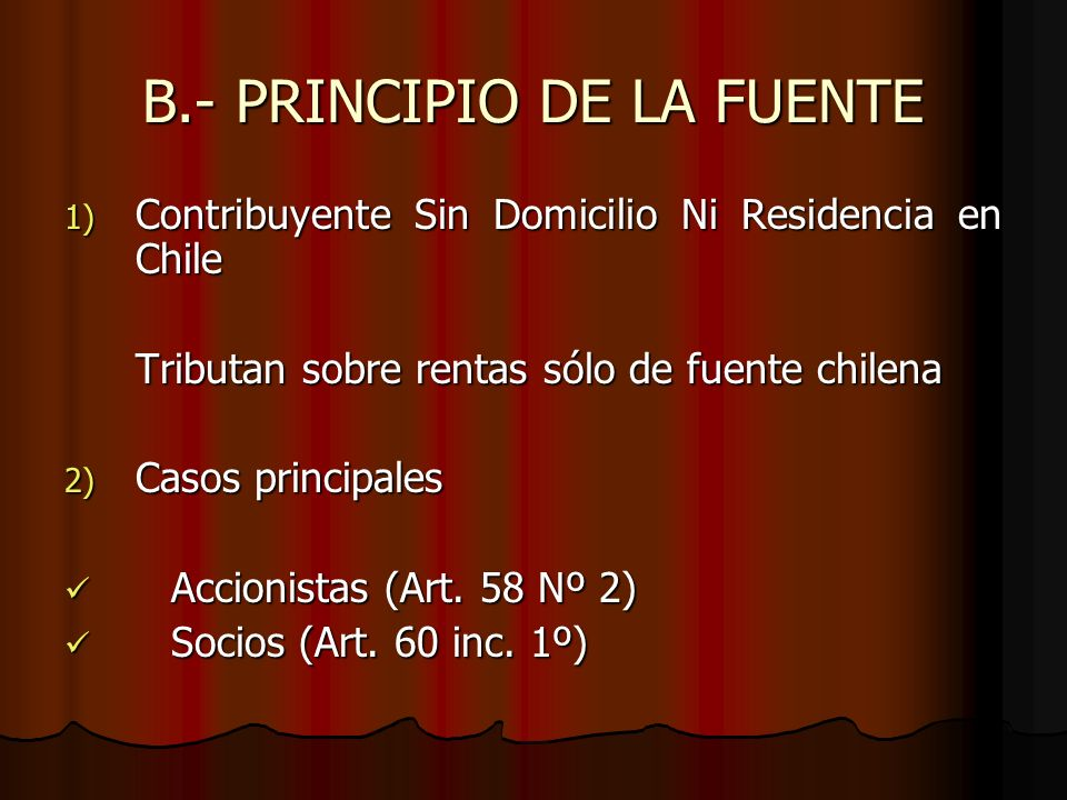 B.- PRINCIPIO DE LA FUENTE