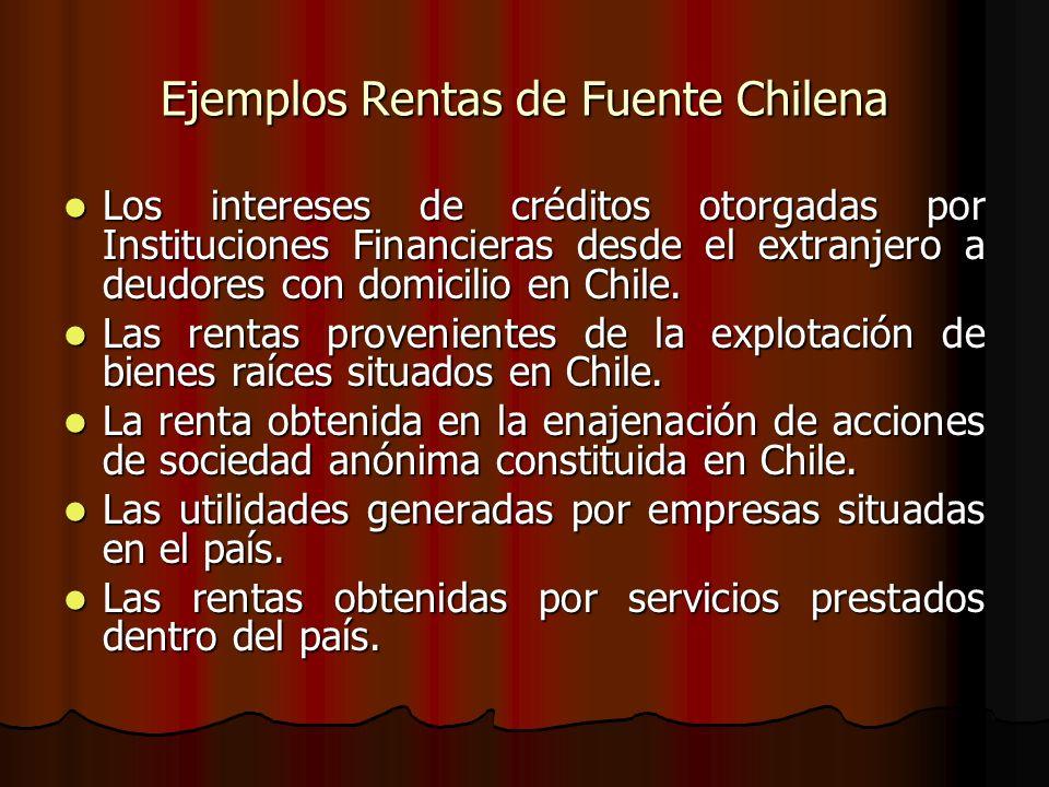 Ejemplos Rentas de Fuente Chilena