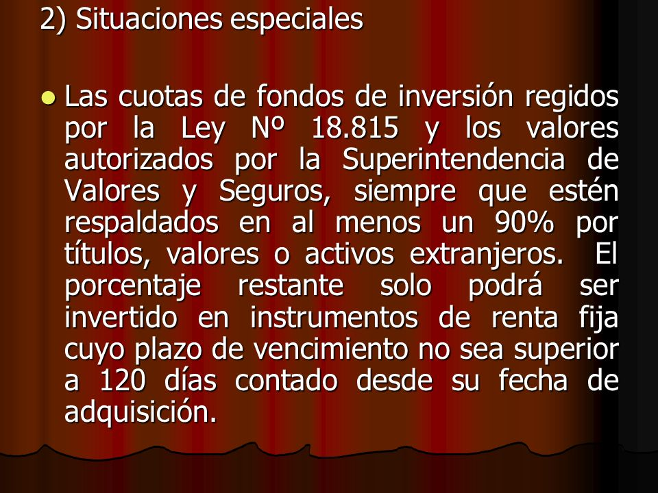2) Situaciones especiales