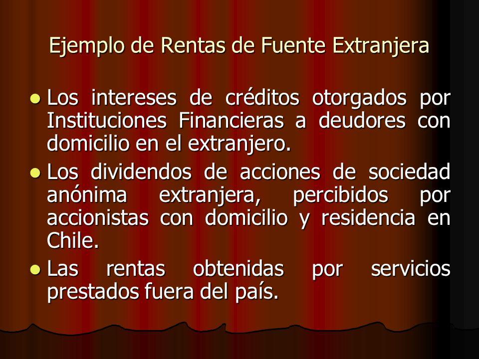 Ejemplo de Rentas de Fuente Extranjera