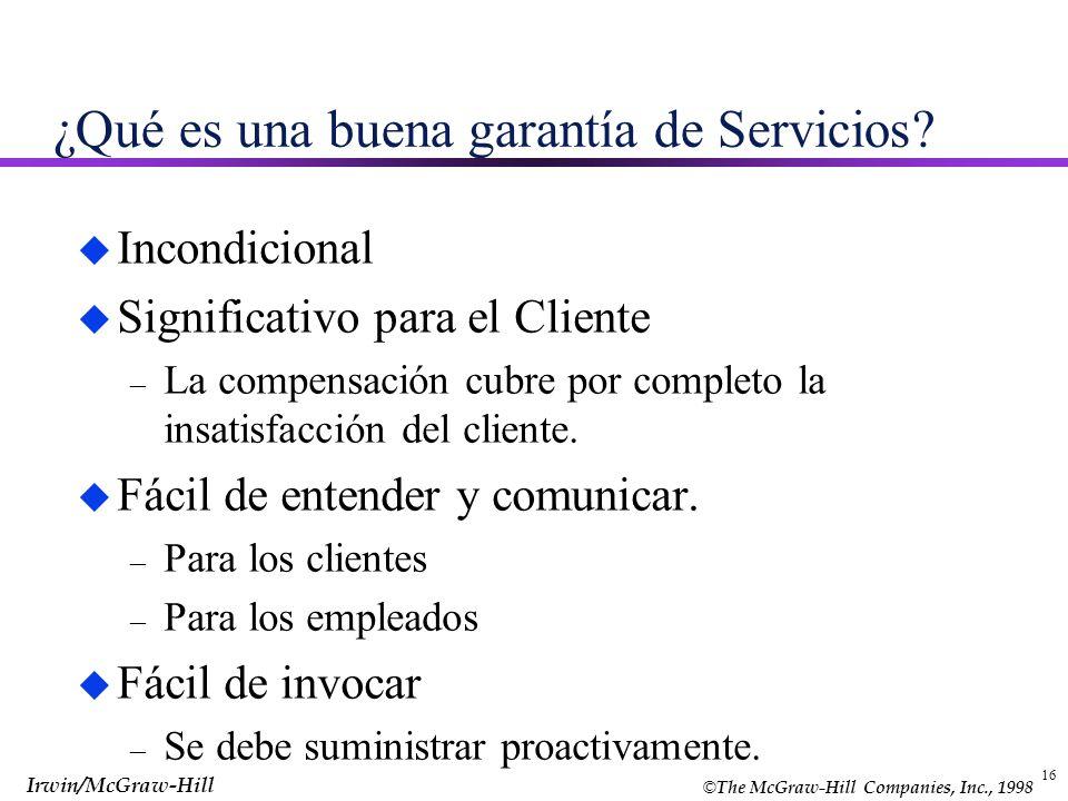 ¿Qué es una buena garantía de Servicios