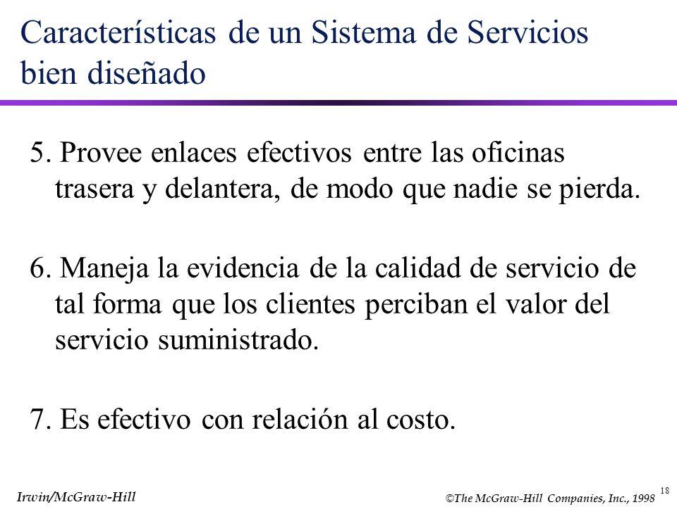 Características de un Sistema de Servicios bien diseñado