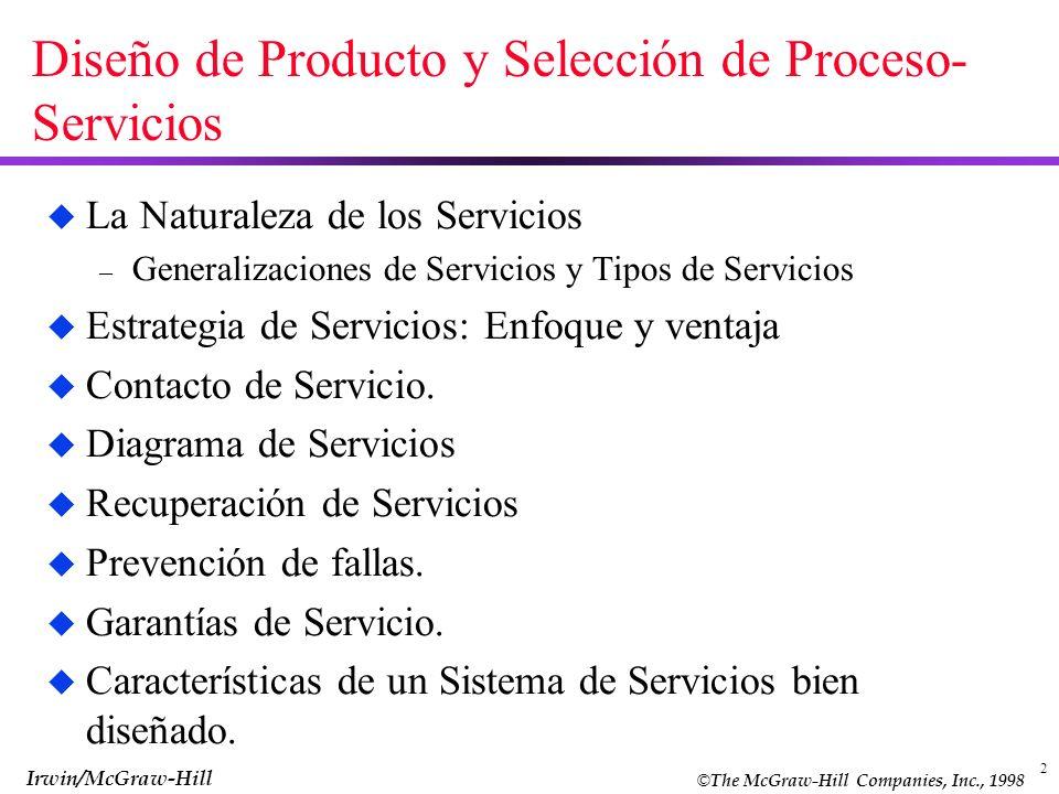 Diseño de Producto y Selección de Proceso-Servicios