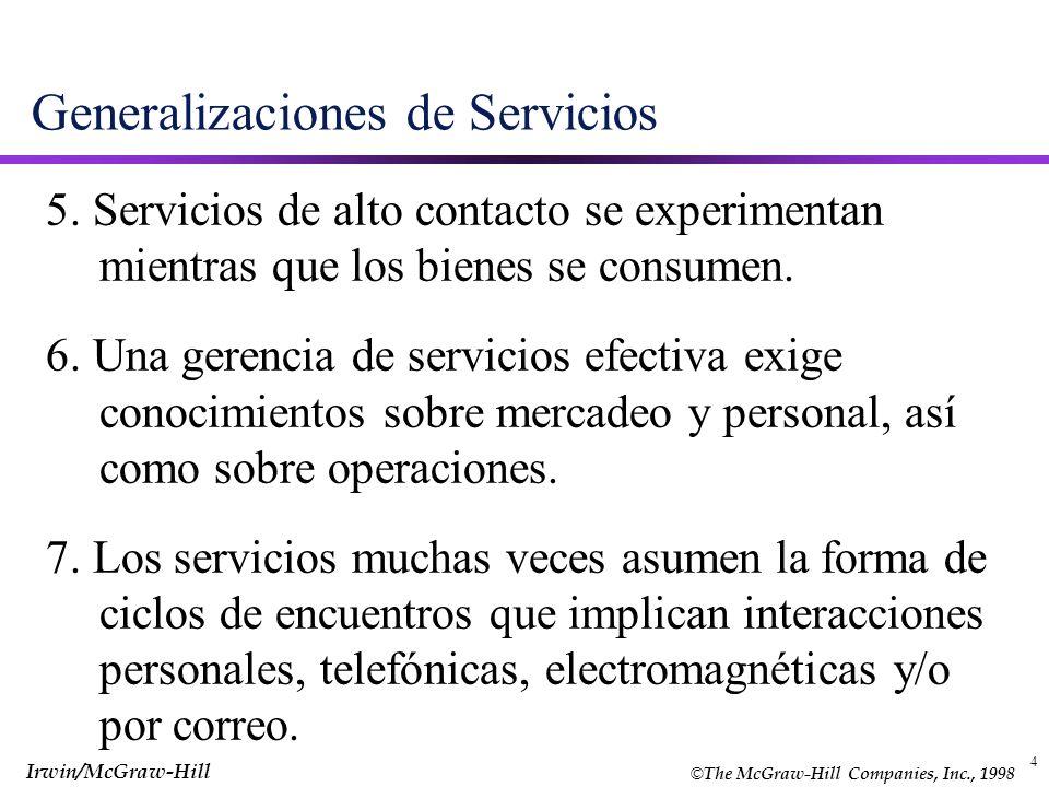 Generalizaciones de Servicios