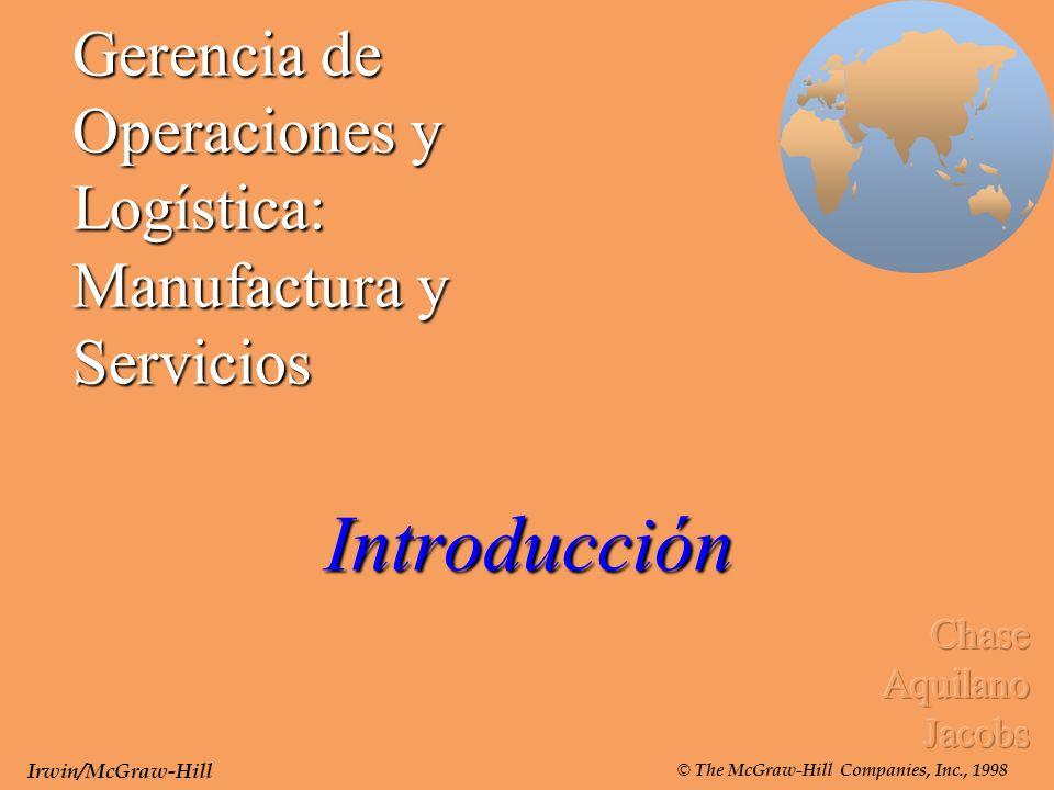 Gerencia de Operaciones y Logística: Manufactura y Servicios