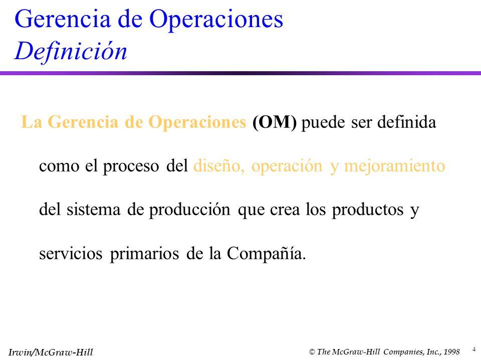 Gerencia de Operaciones Definición