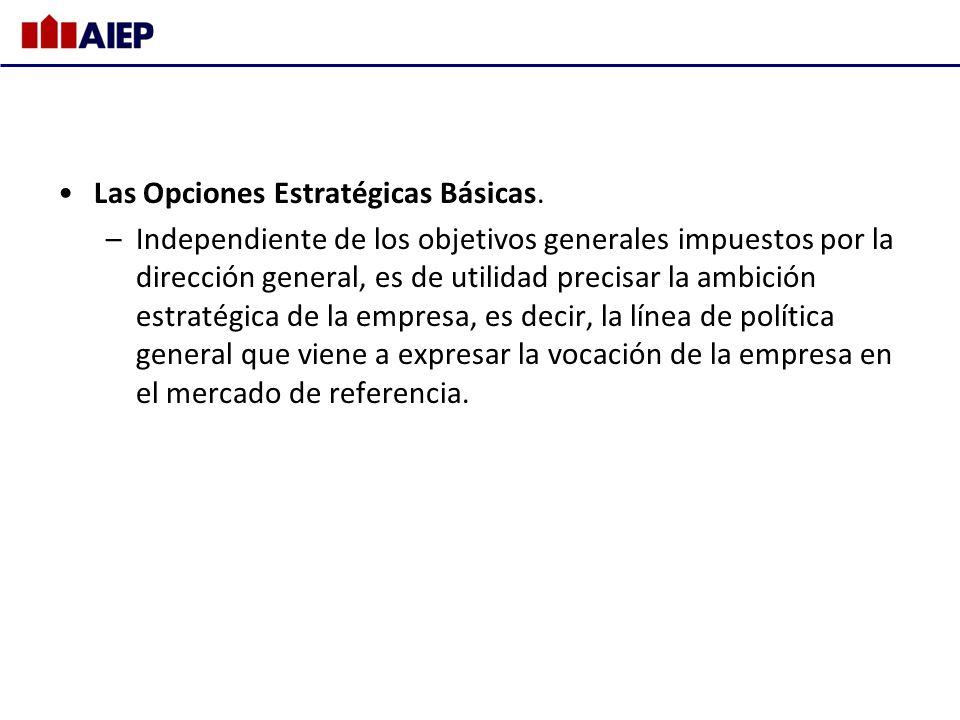 Las Opciones Estratégicas Básicas.