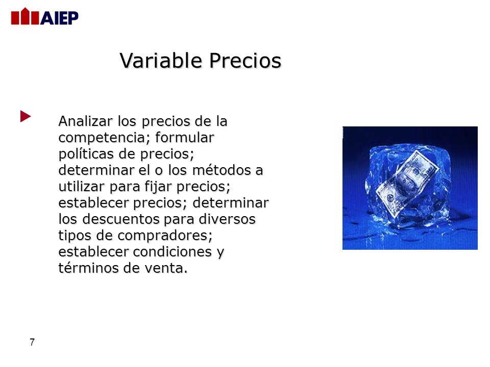 Variable Precios