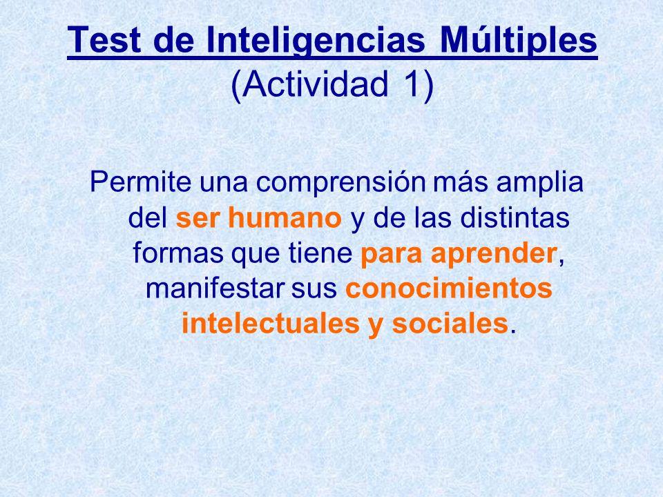 Test de Inteligencias Múltiples (Actividad 1)